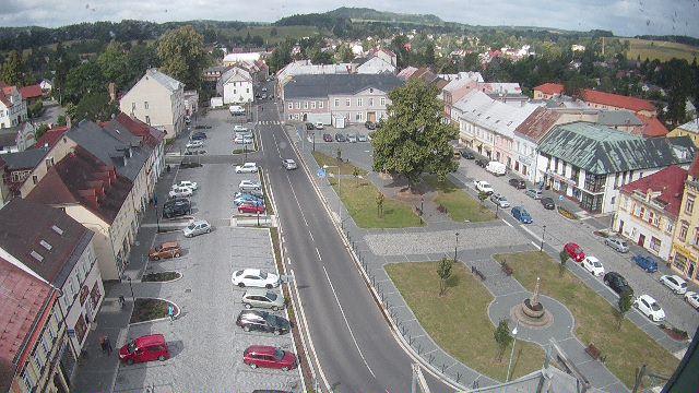 náměstí Míru ve Šluknově